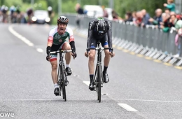 Greg Swinard just edges out Alan Bingham in the National Masters 40 Road Race Championships