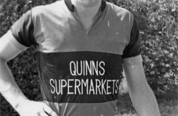 Kevin Dolan sponsored by the original Superquinn store in 1968