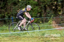 Declan McCabe in full flight during Round 1 of the Cuchulainn CC CX League