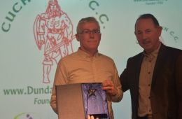 Philip Kerley receives his Special Recognition award from Sé Weston